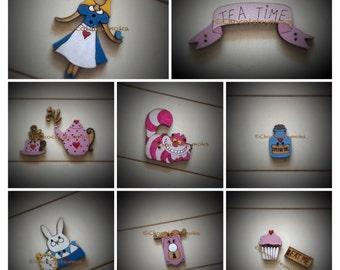 """Colección de Botones Decorativos """"Wonderland"""""""
