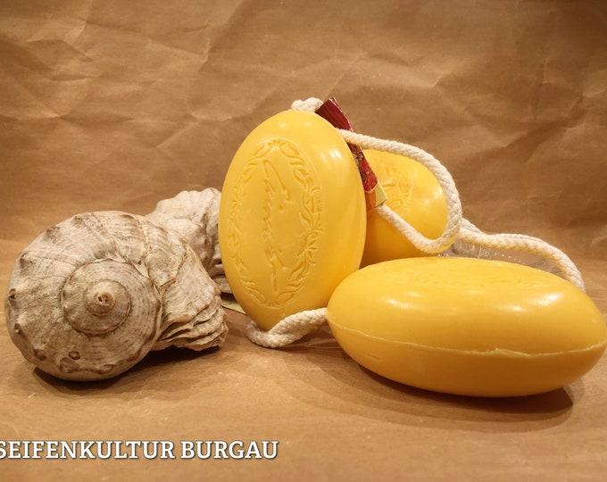 "Cord soap ""Grapefruit Orange""-soap on a rope"