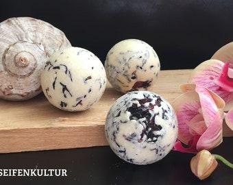 "Bath butter truffle ""Hibiscus Orange"" with sheep's milk, 50 g"