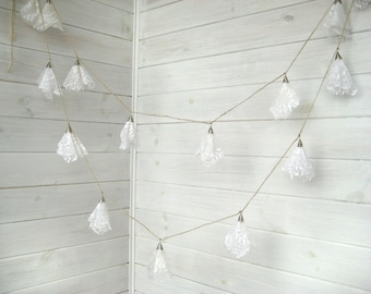Wedding Lace garland -Lace Bunting- Garland wedding decoration- White Lace garland-Romantic Weddings