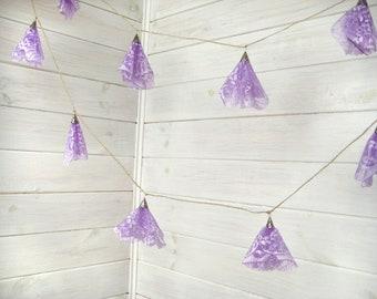 Wedding Lace garland - Garland wedding decoration - Lavender  Lace garland-Romantic Weddings