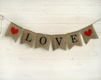 LOVE Burlap Banner,  rustic wedding banner,LOVE banner, Wedding Banner, rustic wedding, wedding photobooth props