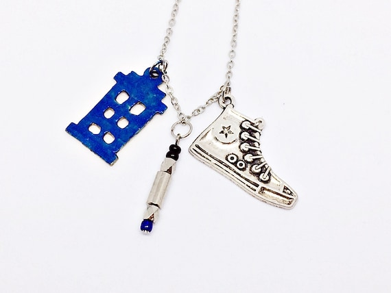 blue or green Sonic Screwdriver Necklace Inspired by Doctor Who