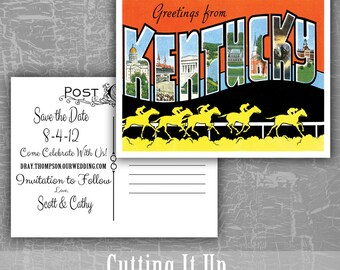 California save the date postcard greetings from save the etsy greetings from save the date postcard kentucky louisiana maine maryland destination wedding postcards rsvp postcard custom vintage m4hsunfo