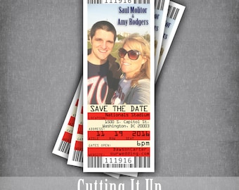 golf wedding save the date ticket magnets country club theme etsy