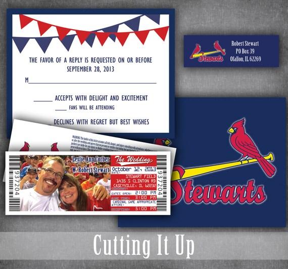 baseball wedding invitation set sports ticket invitations etsy
