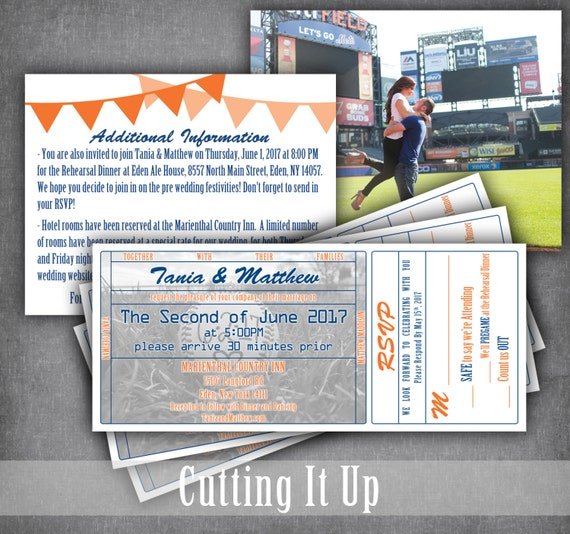 extra large new york mets baseball wedding ticket