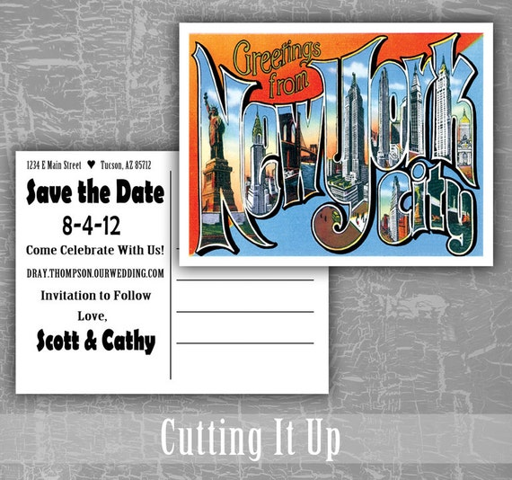Greetings from new york save the date postcards destination etsy image 0 m4hsunfo