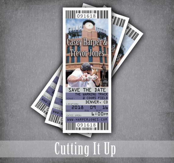 baseball wedding save the date ticket magnets sports theme etsy