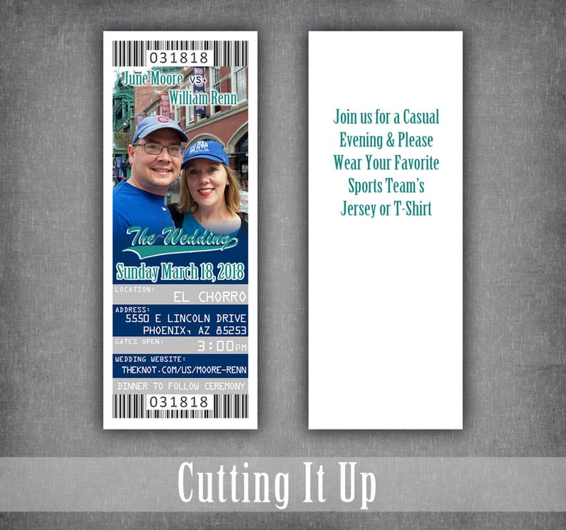 Baseball Wedding Save The Date Ticket Magnets  Sports Theme Save Our Date Ticket  Mariners Invitation Template