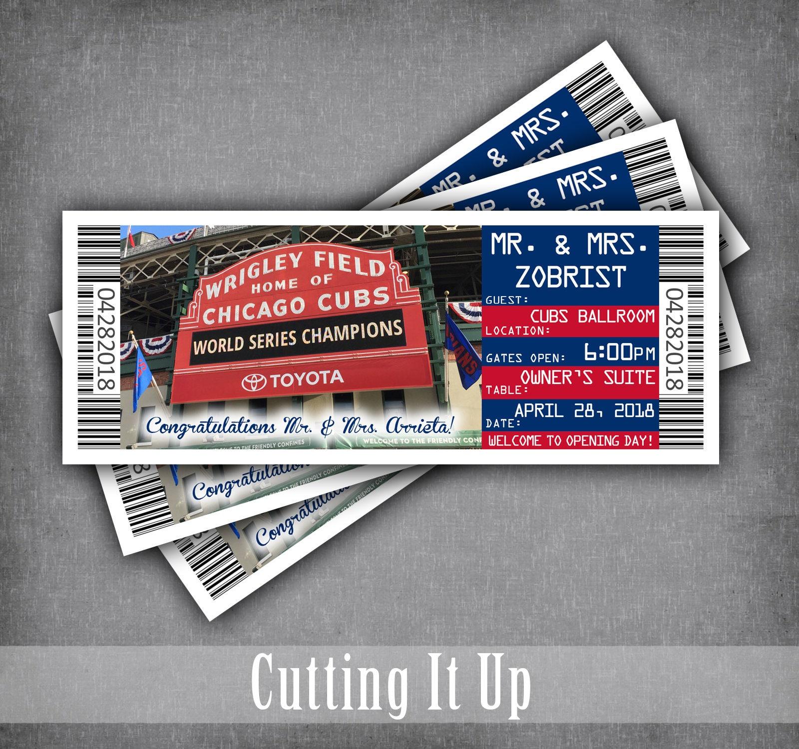 Baseball Wedding Ticket Place Cards Seating Cards Escort | Etsy