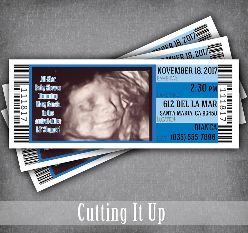 Baby Ultrasound Photo Invitation   All Star Baby Shower Tickets   Sports  Baby Shower   Diaper Party Raffle Ticket Invitations With Picture 086d5cf16
