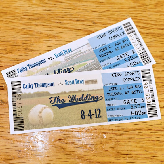 custom save the date ticket magnets sports ticket save the etsy
