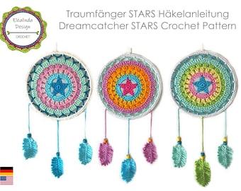Crochet pattern, Dream Catcher Stars, Pattern, ENGLISH (US terms), Dreamcatcher, PDF, instant download