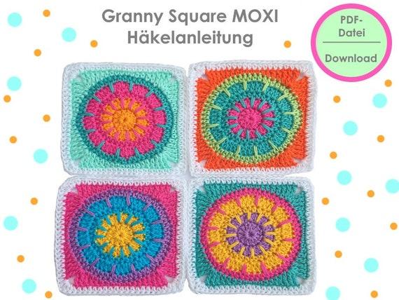 Häkelanleitung Granny Square Moxi | Etsy