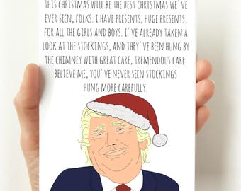trump christmas card funny funny christmas card christmas cards funny cards for christmas holiday cards funny holiday card trump - Best Holiday Cards