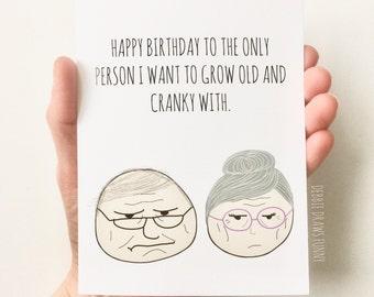 Funny Birthday Card for Husband, Funny Birthday Card for Boyfriend, Birthday Card for Him, Birthday Card for Wife, Birthday Card for Fiancé