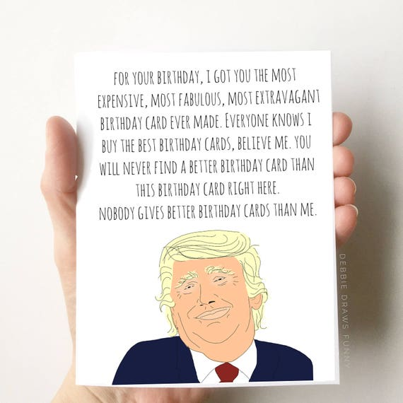 Donald Trump Birthday Card Funny Boyfriend