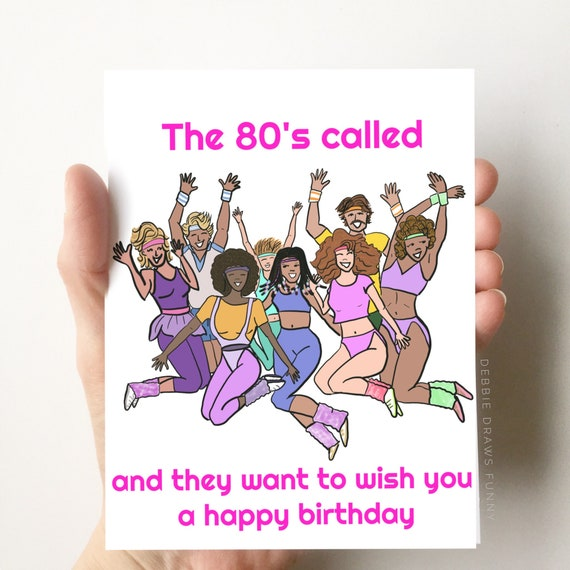 The 80s Called Birthday Card Funny Birthday Card Dad Etsy
