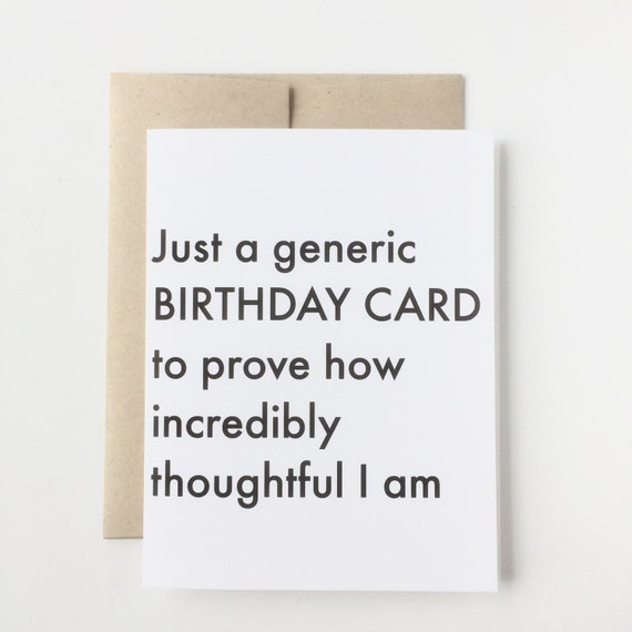 Generic Birthday Card Funny Cards Birthday Cards Funny Etsy