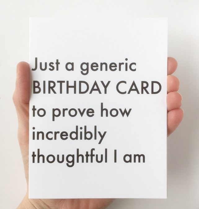Generic Birthday Card Funny Cards Birthday Cards Funny Etsy