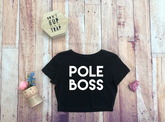 Pole Boss Floral Fitted Cropped Top