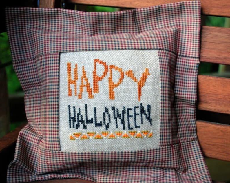 Halloween Cross Stitch Instant Download Pattern Happy image 0