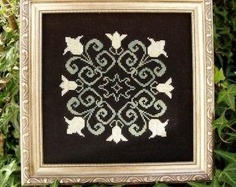 Valentine Cross Stitch Instant Download Pattern Hopeless Love Counted Embroidery Chart Romantic Design Ornamental Tulip Mandala X Stitch