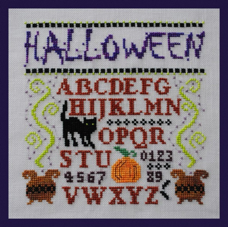 Halloween Cross Stitch Instant Download Pattern Mini image 0
