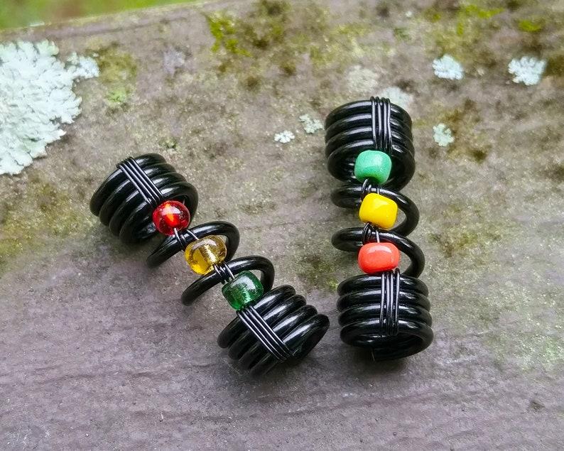 Dreadlock Bead Rastafari Loc Jewelry Loc Bead Loc Accessories,Dread Accessories,Heatherfish Creations Rasta Dread Bead One Simple Bead