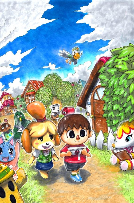 Animal Crossing New Leaf Print