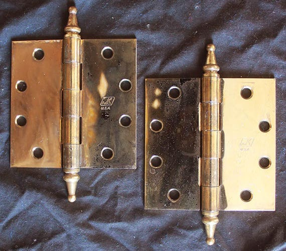 """McKinney Olde Copper finish Cabinet Strap Hinges 8 3//4 With 3//8"""" offset"""