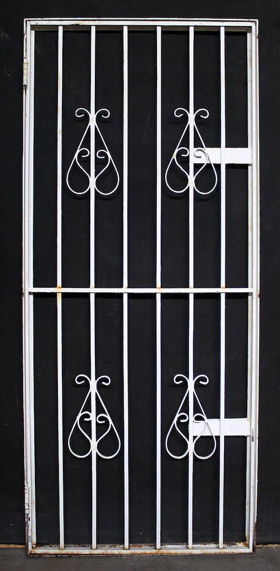 image 0 - 2avail 30x71 Vintage Antique Steel Metal Gate Etsy