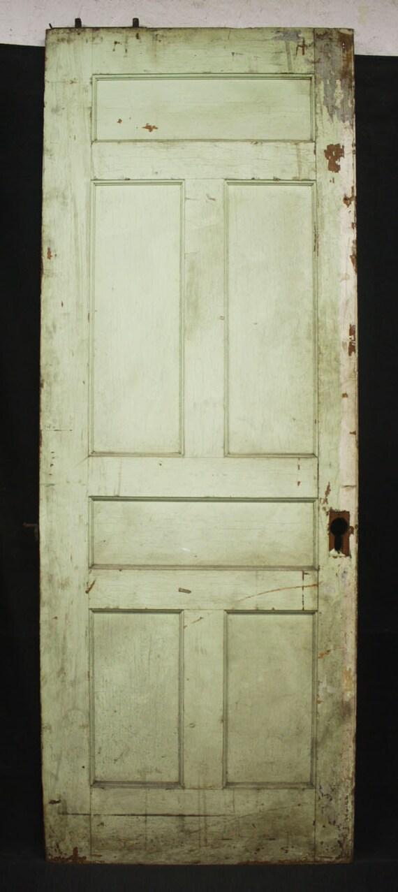33x 89 Antique Interior Pine Wood Wooden Sliding Etsy