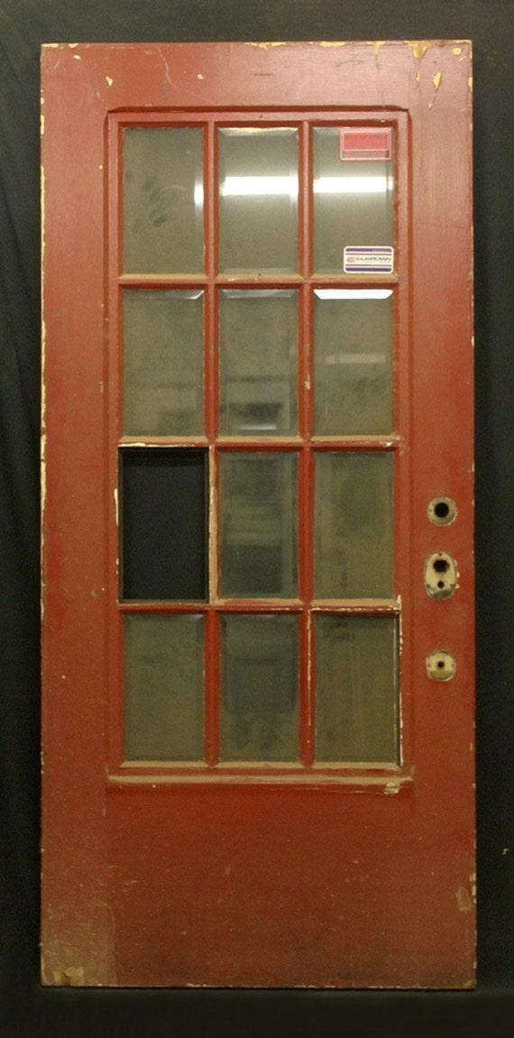 36x79 Vintage Walnut French Exterior Entry Door Etsy