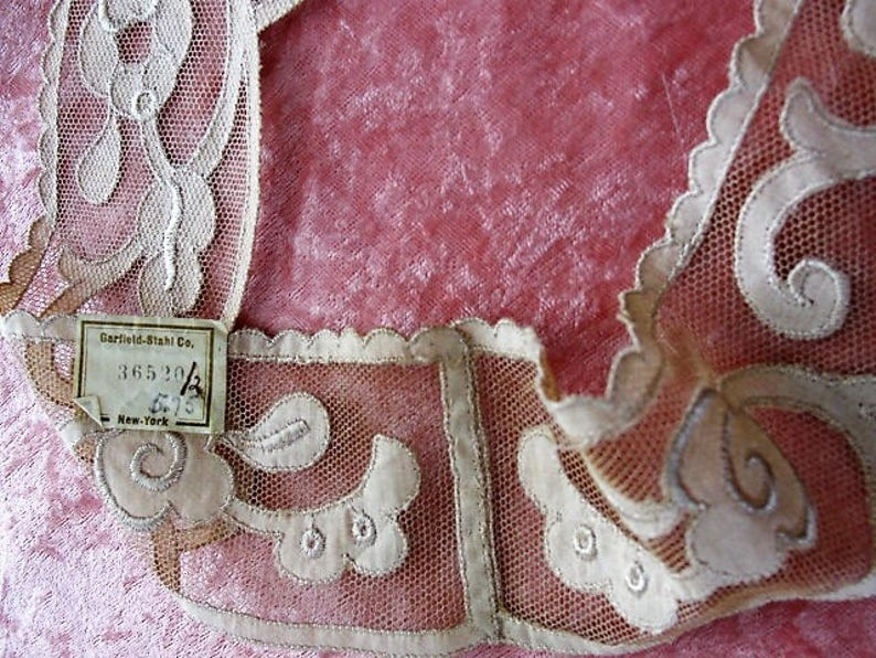 Gorgeous 20s antique french netted lace cotton appliques etsy