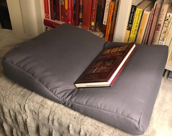 Large Gray Book Support Pillow, 18% Grey