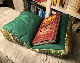 Green Marbled Book Support Pillow