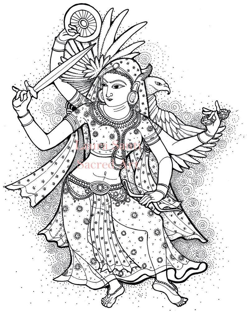 Rastrasena Rāṣṭrasenā Rajasthan Hindu mantra meditation image 1