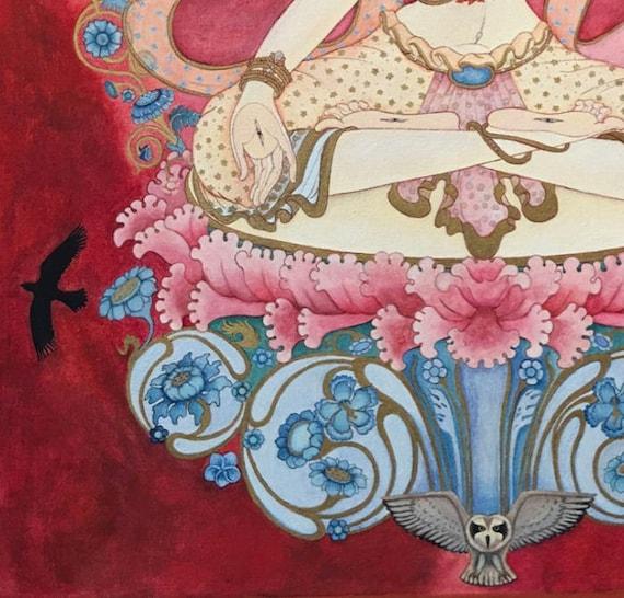 White Tara Goddess Bodhisattva tantric deity tibetan buddhist thangka  tangka thankga meditation