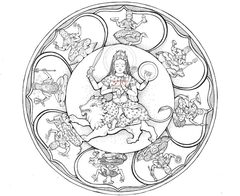 Indian goddess Svasthani sister to Durga  Warrior Goddess image 1
