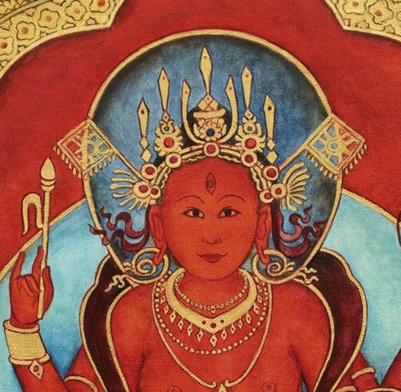 Lalita TripuraSundari and Ganesh, Shiva, Vishnu, & Surya, Mahavidya mantra  Sri Yantra, Shri Yantra, mandala meditation Kashmir shaivism