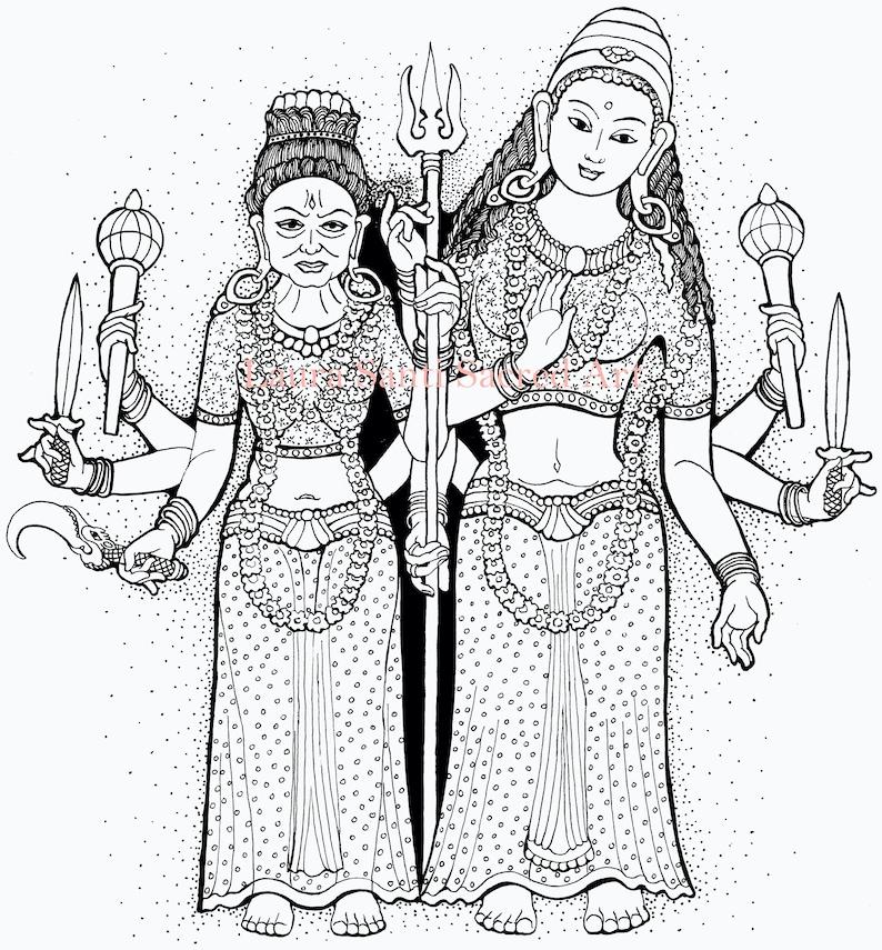 Kailā Devī Rajasthan Hindu deity illustration from the book image 1