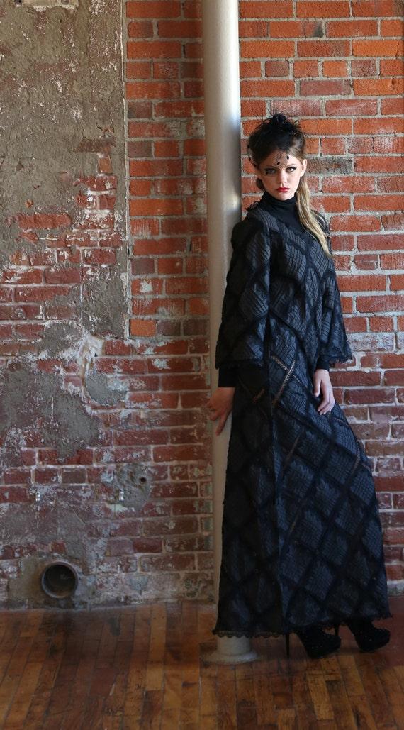 Vintage Black Dress, Long Black Dress, Black Forma