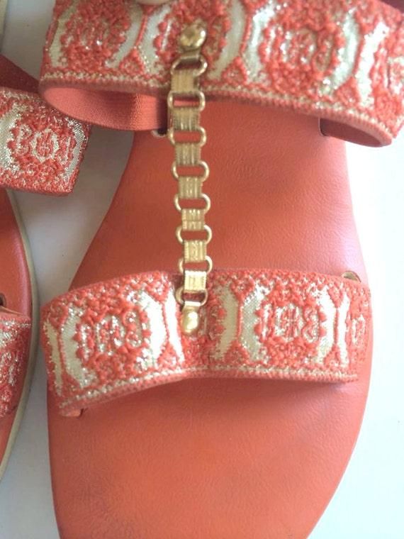 3b7935d91 80s ORANGE Sandals size 6 Women s sandals urban hipster