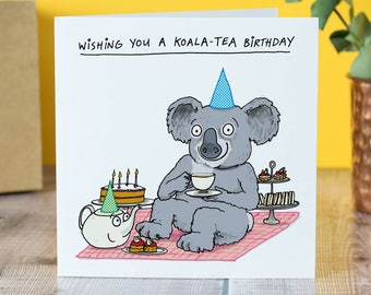 Koala-Tea birthday card