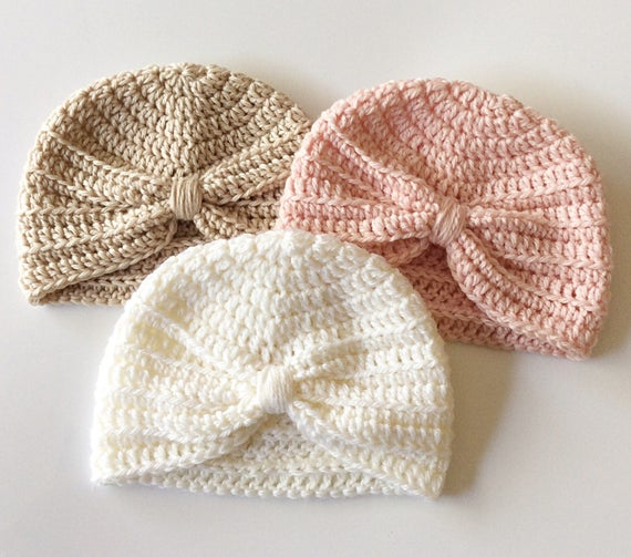 Crochet Pattern Baby Beanie Turban Pattern PDF.  4f779b23005