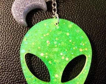 GlowUV Alien Keychains
