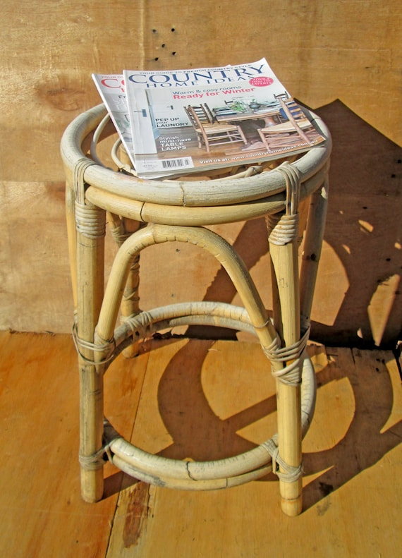 Stool Bedside Table: Rustic Stool Bedside Table Mix And Match Your Kitchen