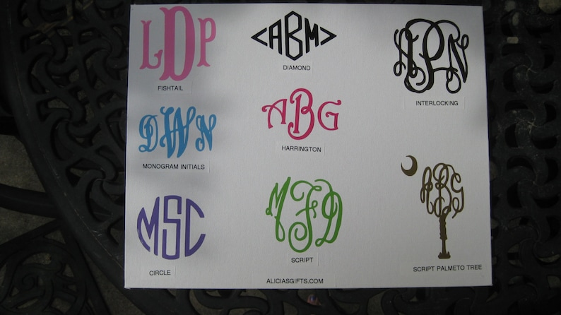 DECALS ONLY free shipping Monogram waterproof vinyl Decals for your own  items